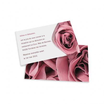 Carton d'invitation rose wrap