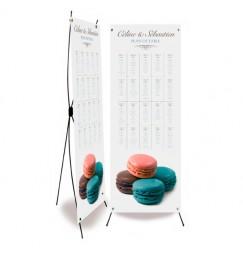 Plan de table mariage macarons
