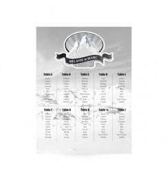 Plan de table mariage ski