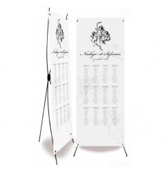 Plan de table mariage corset ange