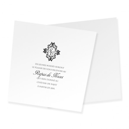 Carton d'invitation corset baroque