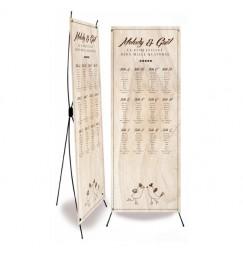 Plan de table mariage vintage bois