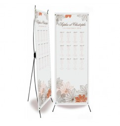 Table plan banner autumn grey