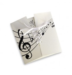 Wedding invitation music notes