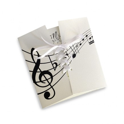 wedding invitation music notes. Black Bedroom Furniture Sets. Home Design Ideas