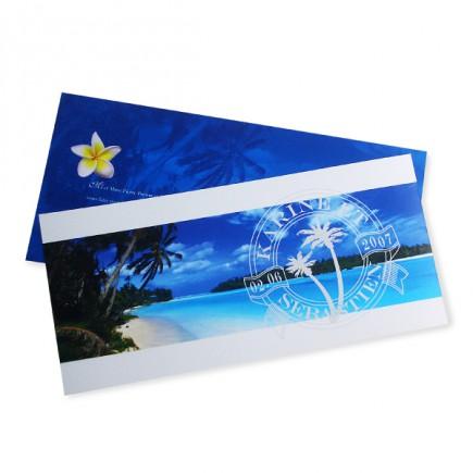 caribbean beach wedding invitation