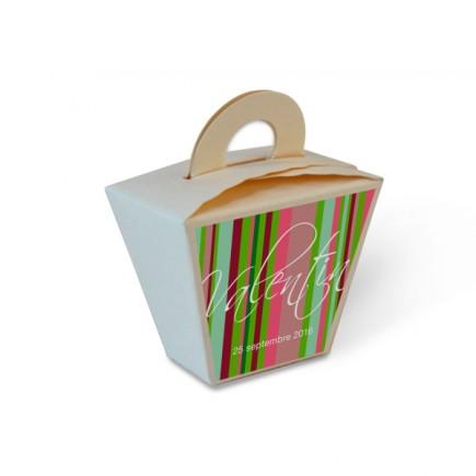 Favor box rainbow
