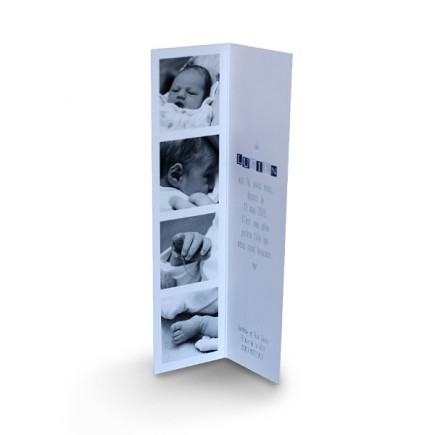Birth announcement book mark