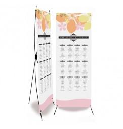 Plan de table mariage art deco fleur