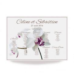 Plan de table champêtre orchidée