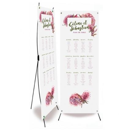 Plan de table mariage champêtre