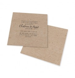 Carton d'invitation vintage kraft decoupe laser
