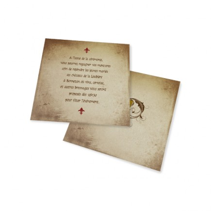 Dinner card Carton medieval