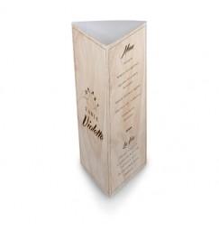 Menu de table vintage bois