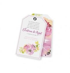 Carton d'invitation peonies