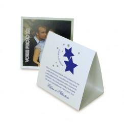 Thank you card pyramid stars