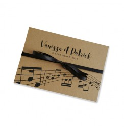 Wedding invitation craft music