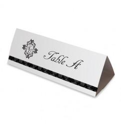 Nom table mariage corset baroque