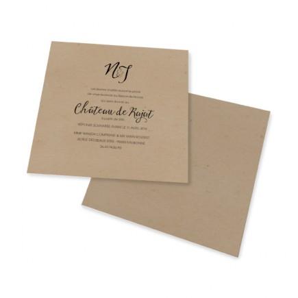 Carton d'invitation vintage dentelle