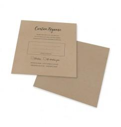 Carton réponse vintage dentelle