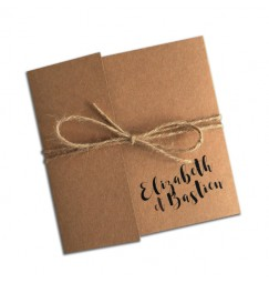 Wedding invitation kraft pocket