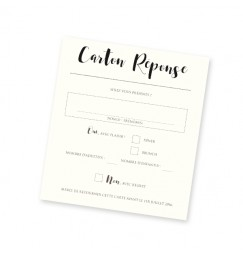 RSVP card kraft pocket