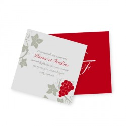 Carton d'invitation vigne avorio
