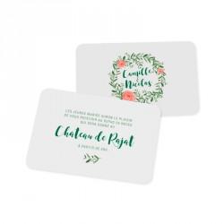 Dinner card elegant rose
