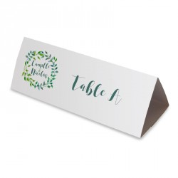 Nom table feuille verte