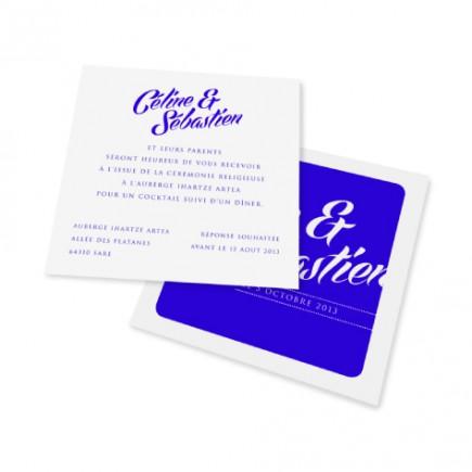 Carton d'invitation scribble