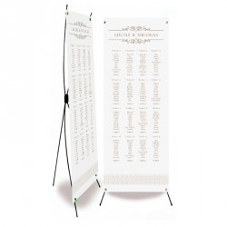 Table plan banner corset arabesque