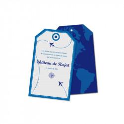 Carton d'invitation voyage en avion