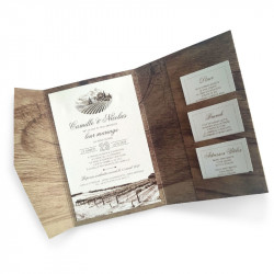 Wedding invitation vigneto