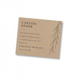 Dinner card italian classic