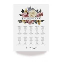 Table plan elegant rose