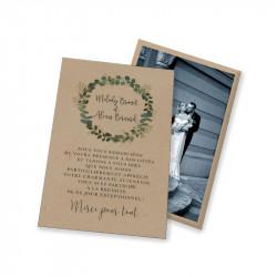 Remerciement mariage Eucalyptus