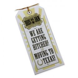 Wedding invitation texas cowboy