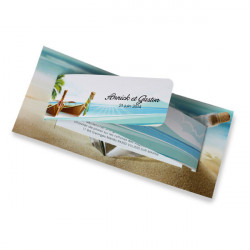 Faire part mariage island holiday