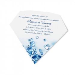 Carton d'invitation pierres précieuses