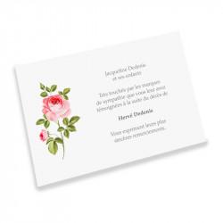 Rose condolences cards