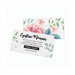 Carton d'invitation fleurs wrap