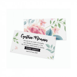Dinner card flower wrap