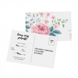Carton réponse fleurs wrap