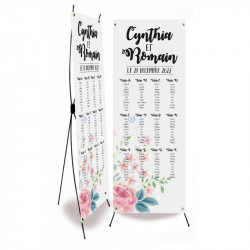 Wedding table plan flower wrap