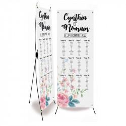 Wedding table plan flower wrap