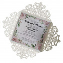 Wedding invitation rose lace