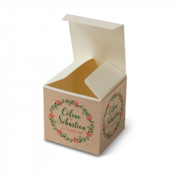 Wedding favour box the flowers of the landes