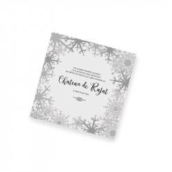 Carton d'invitation dentelle hiver