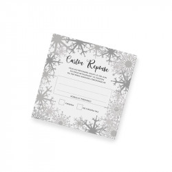 RSVP card winter lace