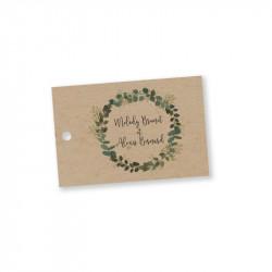 Wedding favours tag Eucalyptus